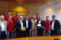 Ravenna Volley, premiazione Bonaccini