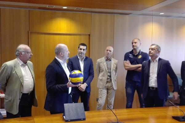 Ravenna Volley bis, premiazione Bonaccini