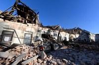 Terremoto Croazia 29 dicembre 2020 foto Adnkronos