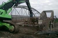 Inaugurazione ponte Bomporto (Mo), demolozione. Ricostruzione post sisma (11/11/2017)