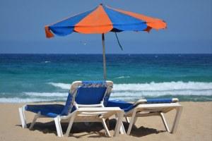 Ombrellone, spiaggia, lettini