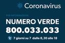Coronavirus numero verde 800033033