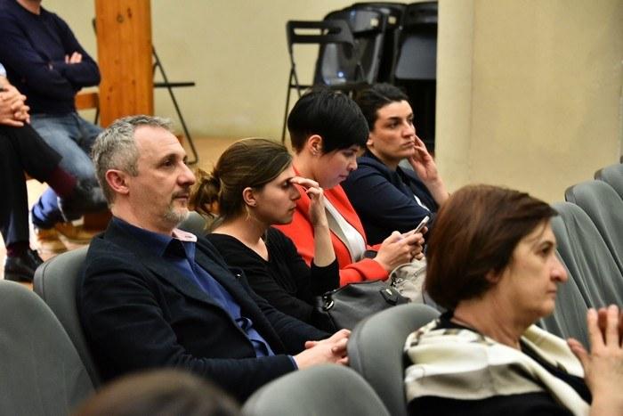 Dettaglio sul pubblico della lettura teatrale