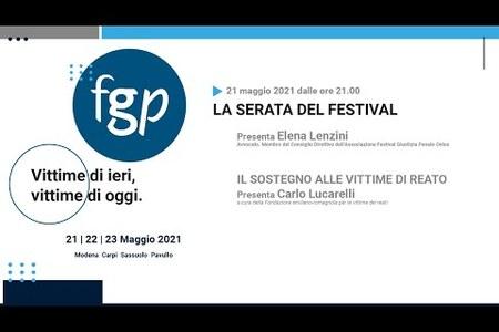 La serata del Festival della Giustizia Penale 2021 - Il sostegno alle vittime di reato, con Carlo Lucarelli