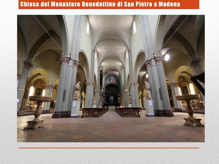 Chiesa del Monastero Benedettino di San Pietro a Modena