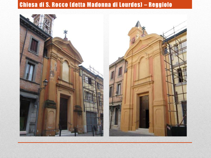 Chiesa di S. Rocco (detta Madonna di Lourdes) – Reggiolo