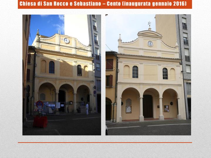 Chiesa di San Rocco e Sebastiano – Cento (inaugurata gennaio 2016)
