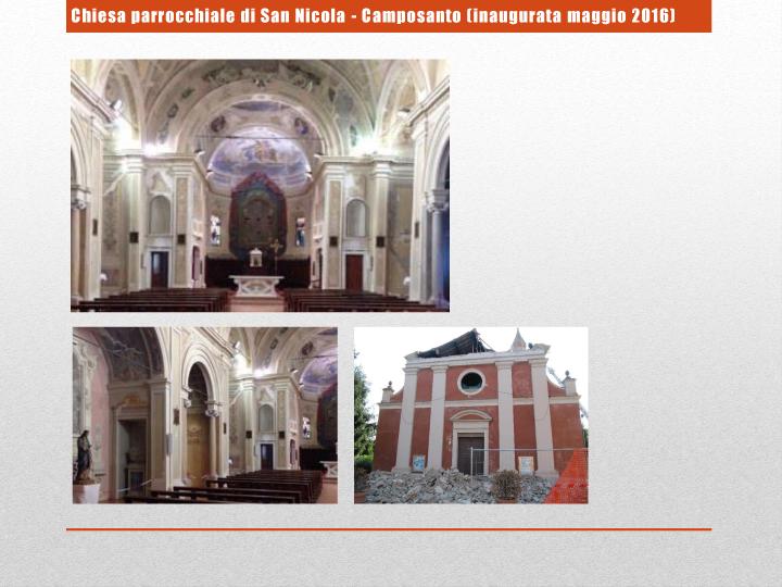 Chiesa parrocchiale di San Nicola - Camposanto (inaugurata maggio 2016)