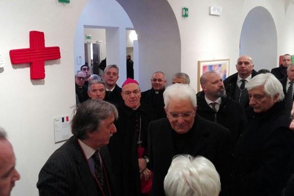Mattarella e Bonaccini al Museo del Tricolore