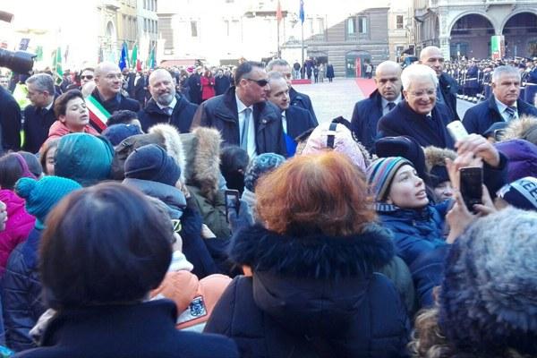 Mattarella e Bonaccini incontrano gli studenti
