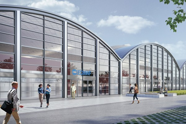 Il rendering del data center del centro meteo europeo 2