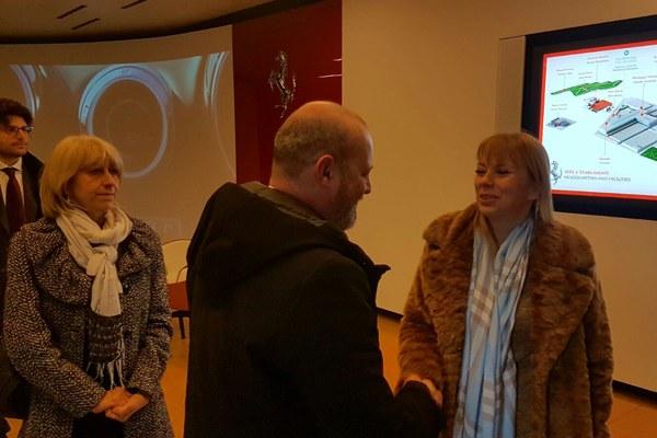Il presidente Bonaccini, la commissaria Bienkowska e l'assessore Costi