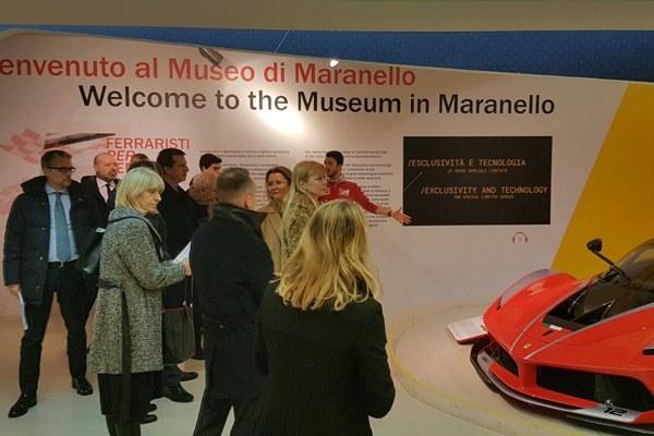 Sala di ingresso al Museo Ferrari