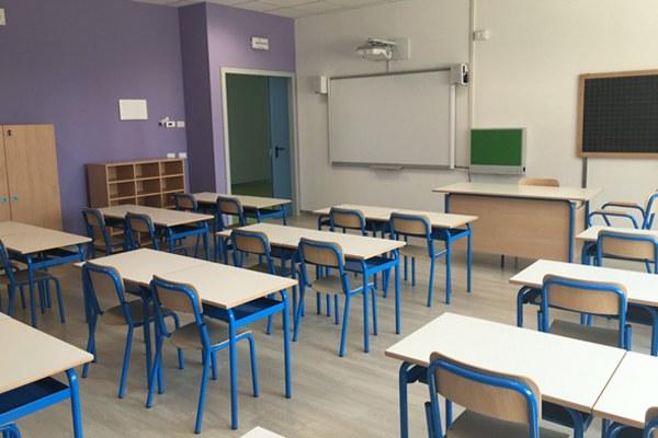 Scuola di Bondeno aula