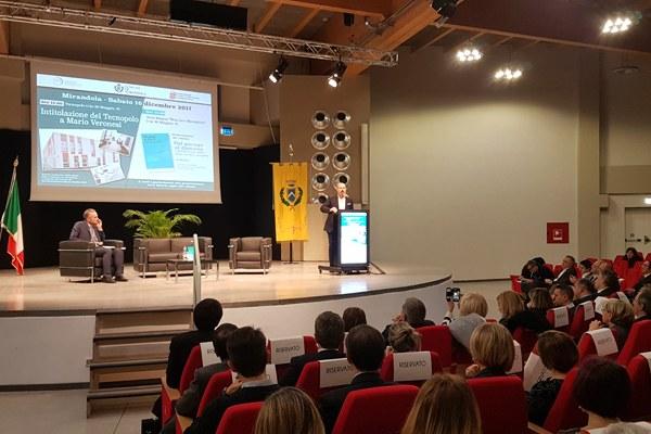 Presidente Bonaccini all'intitolazione del Tecnopolo a Veronesi -1