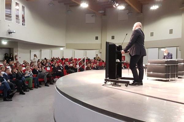 Presidente Bonaccini all'intitolazione del Tecnopolo a Veronesi -3