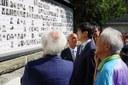 Il sindaco di Nagasaki di fronte alle  vittime di Marzabotto