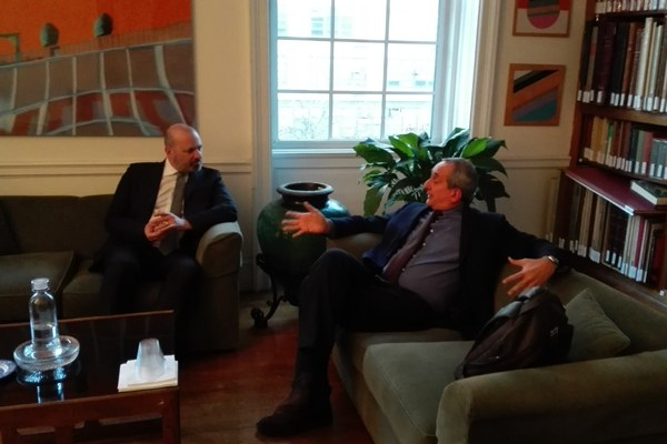 Bonaccini incontra il direttore dell'Istituto italiano di cultura di New York, Giorgio Van Straten