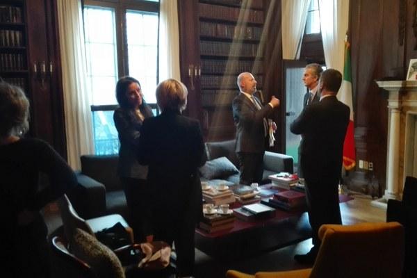 Bonaccini incontra il console generale italiano a New York, Francesco Genuardi