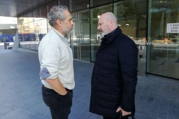 Il presidente Bonaccini e Dough Stayman, prorettore di Cornell Tech