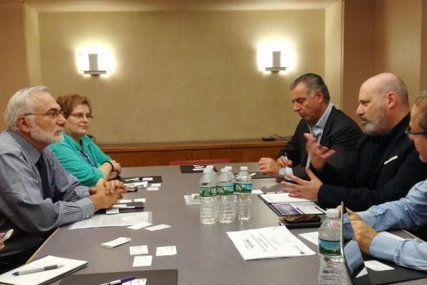 Incontro del presidente Bonaccini con Eitan Zemel, vice rettore della Stern School of business della New York University