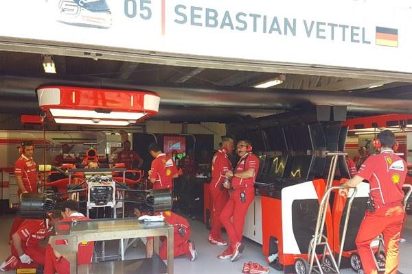 Il box di Vettel