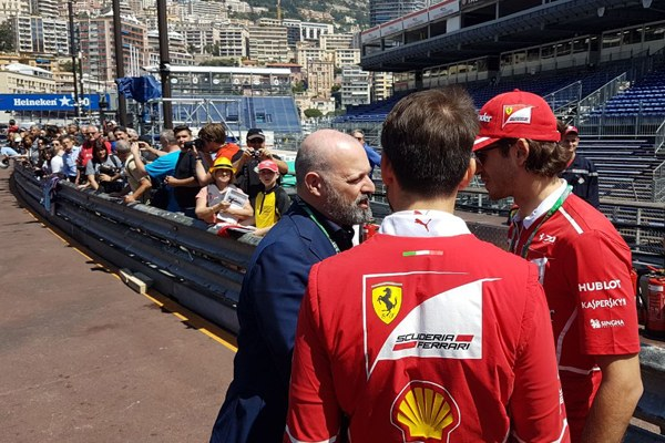 Il presidente Bonaccini al Team Ferrari