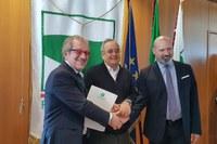 Primo incontro 116 Autonomia in Regione Bonaccini Bressa Maroni