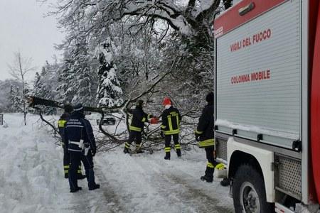 Sisma in centro Italia: gli interventi nelle zone colpite dalla neve