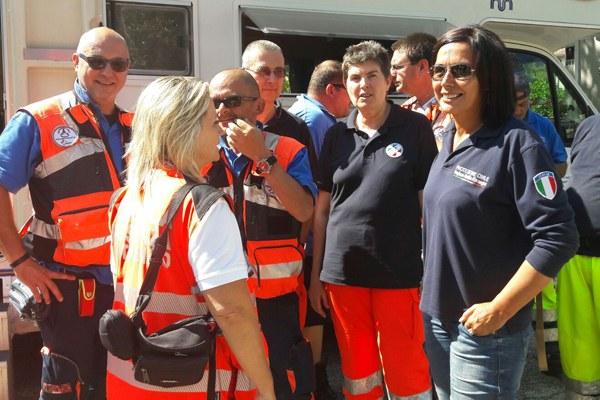 Terremoto in Italia centrale, assessore Gazzolo e volontari di Protezione civile