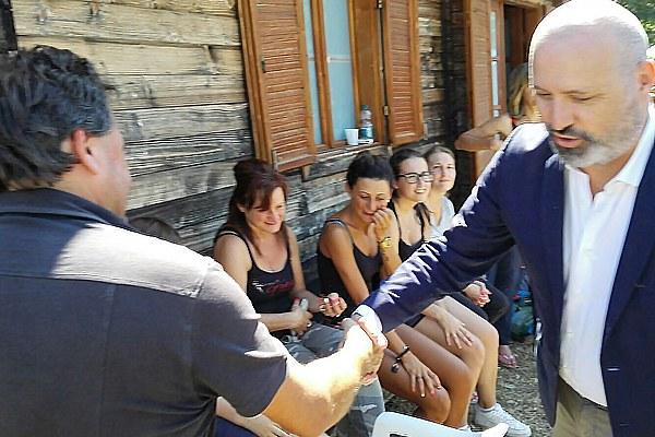 Terremoto in Italia centrale, Bonaccini con gli ospiti del campo di accoglienza regionale