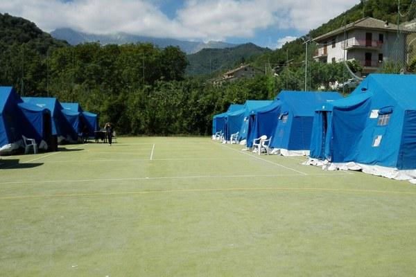 Terremoto Italia centrale, campi accoglienza a Montegallo