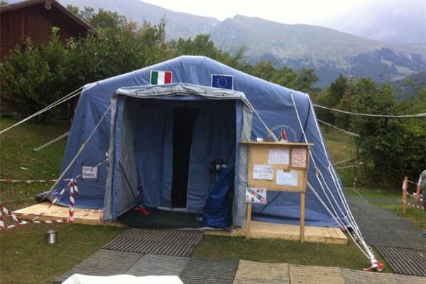 14 settembre 2016, la tenda ludoteca
