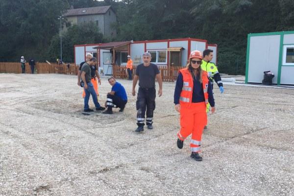 24 settembre 2016, ultimi lavori al centro polifunzionale prima dell'inaugurazione