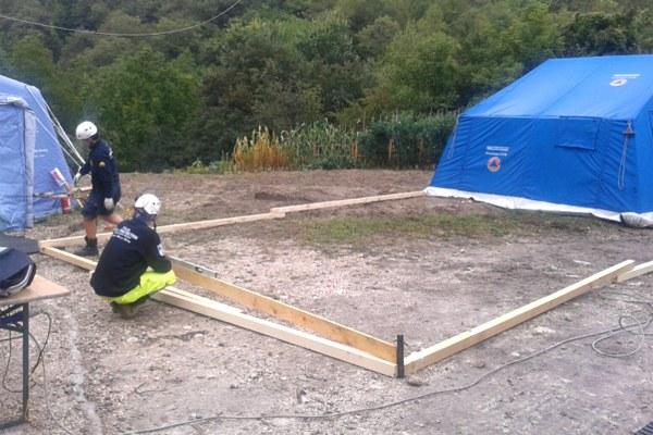 7 settembre 2016, lavori di manutenzione del campo di Uscerno