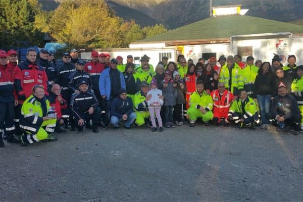 9 ottobre 2016, foto di gruppo degli operatori impegnati