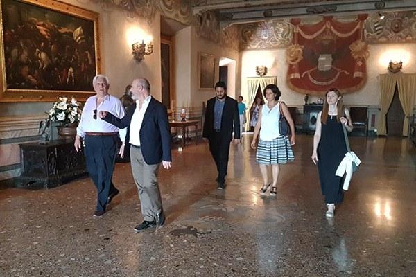 All'interno del Castello di Rivalta (Pc)