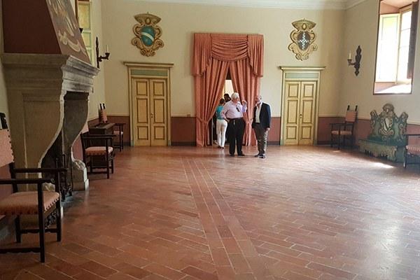 Interno del Castello di Rivalta (Pc)