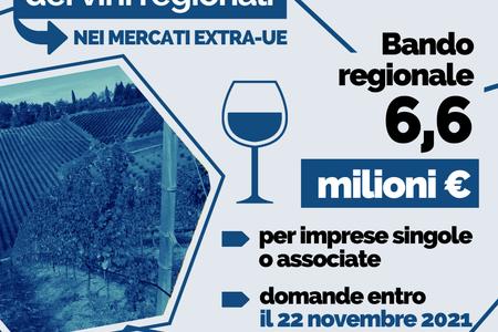 Promozione dei vini regionali nei mercati extra-Ue