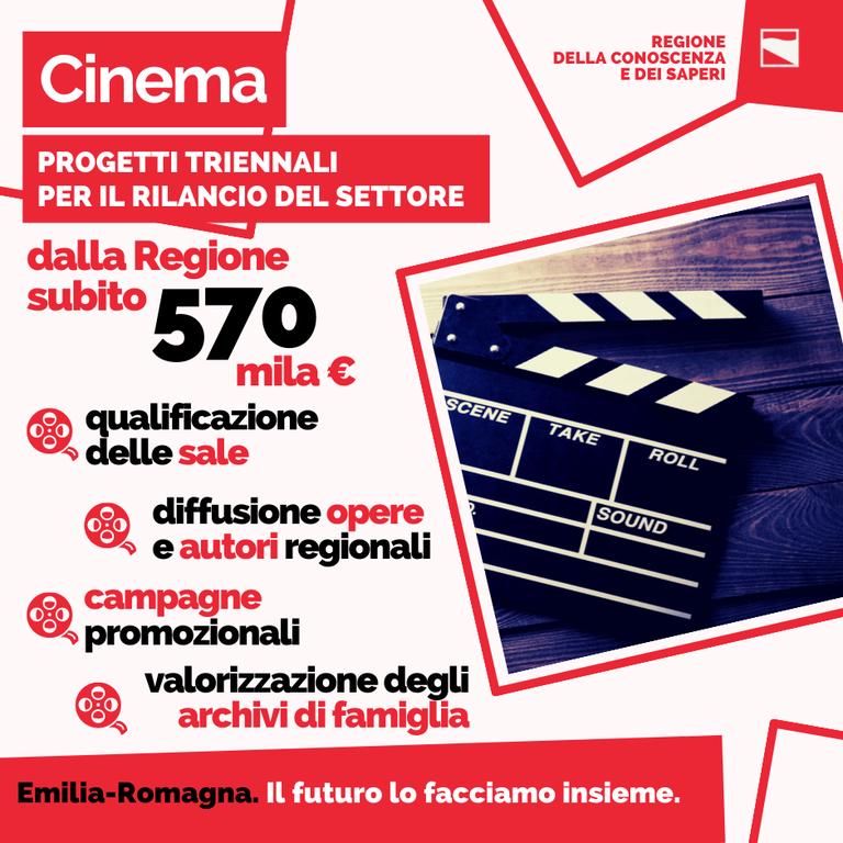 Cinema, progetti triennali per il rilancio del settore