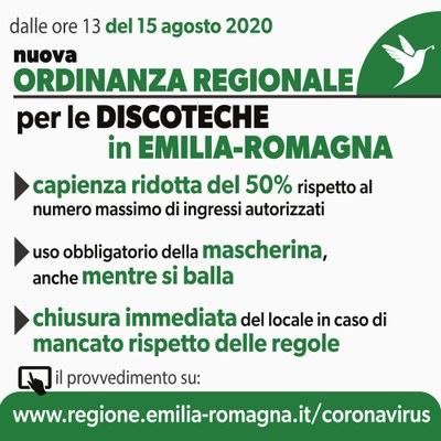 Coronavirus, ordinanza del 15 agosto