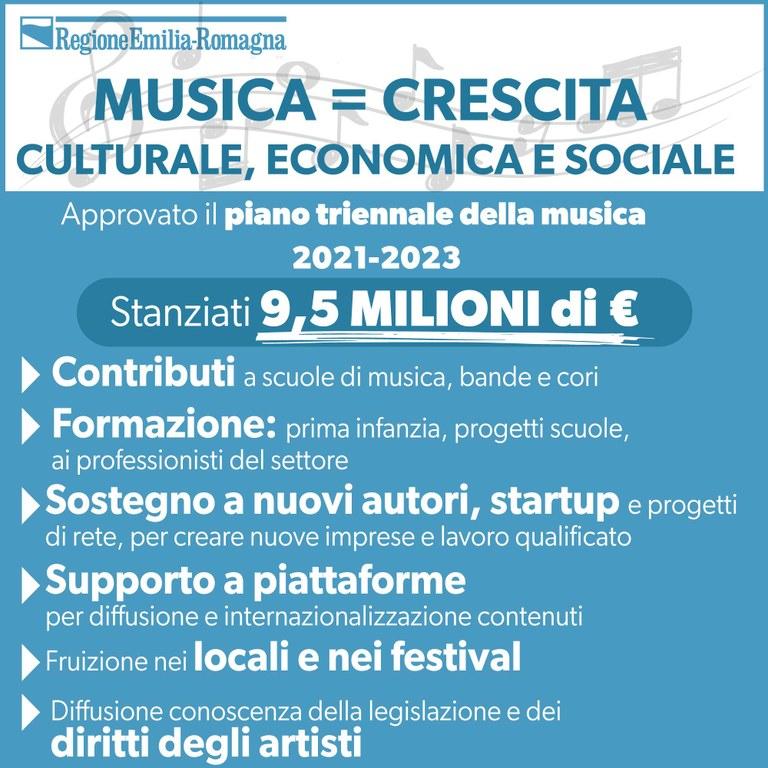 Musica = crescita culturale, economica e sociale