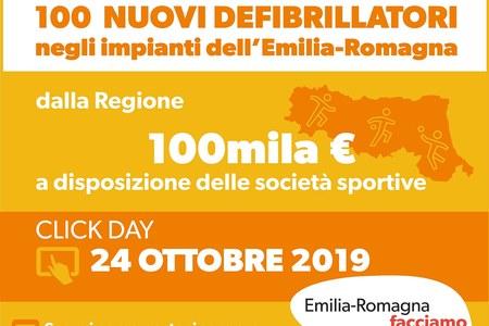 100 nuovi defibrillatori per gli impianti dell'Emilia-Romagna