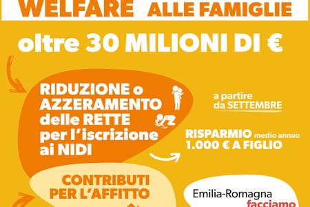 Più welfare, più sostegno alle famiglie