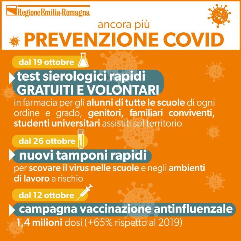 Ancora più prevenzione Covid