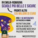 Scuole più belle e sicure: oltre 100 interventi da Piacenza a Rimini