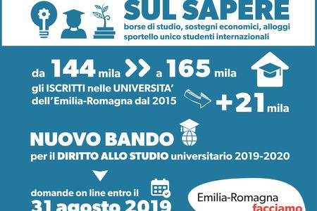 Diritto allo studio universitario, bando 2019 2020