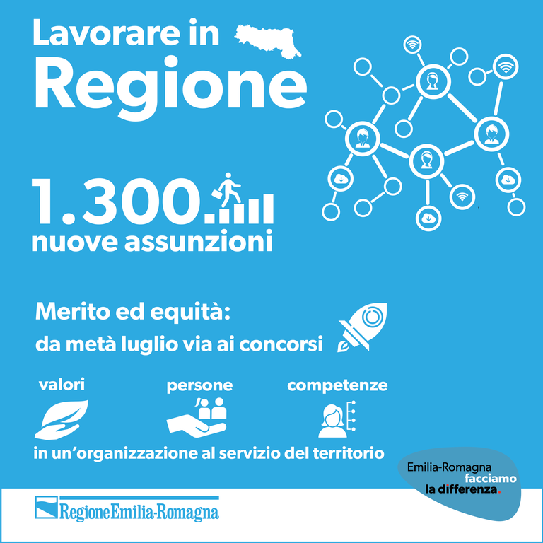 Lavorare in Regione, 1.300 nuove assunzioni