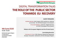 Digital Transformation Talks: il ruolo del settore pubblico nella ripresa Europea