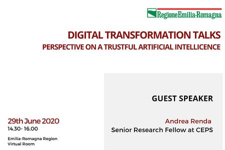 Digital Transformation Talks: perspectives on a trustful Artificial Intelligence